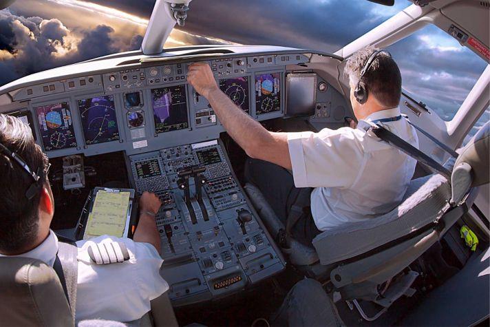 Business Jet Pilots Cabin