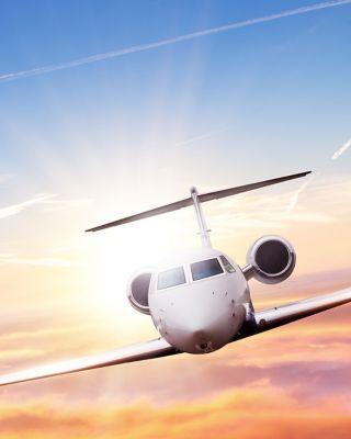 BGA Plane in sunset