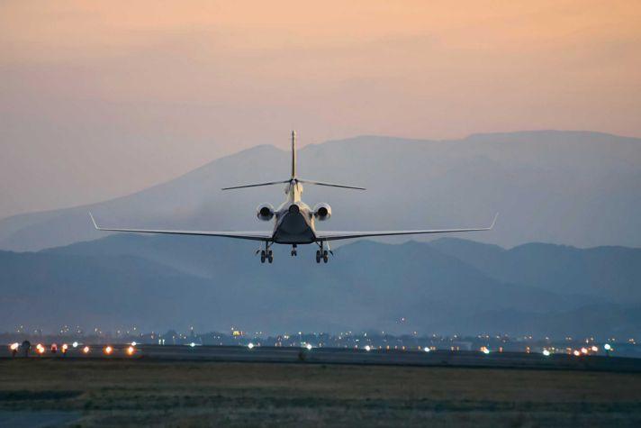 Falcon 7X Landing