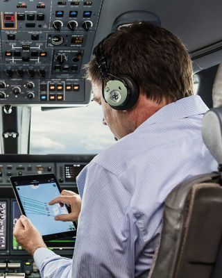 Business Jet Cockpit Tablet