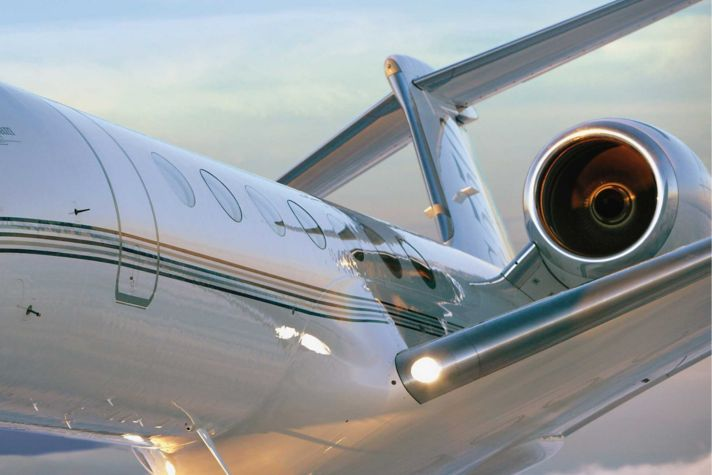 G550 in flight