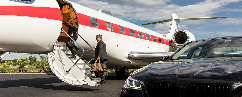 Boarding Business Jet