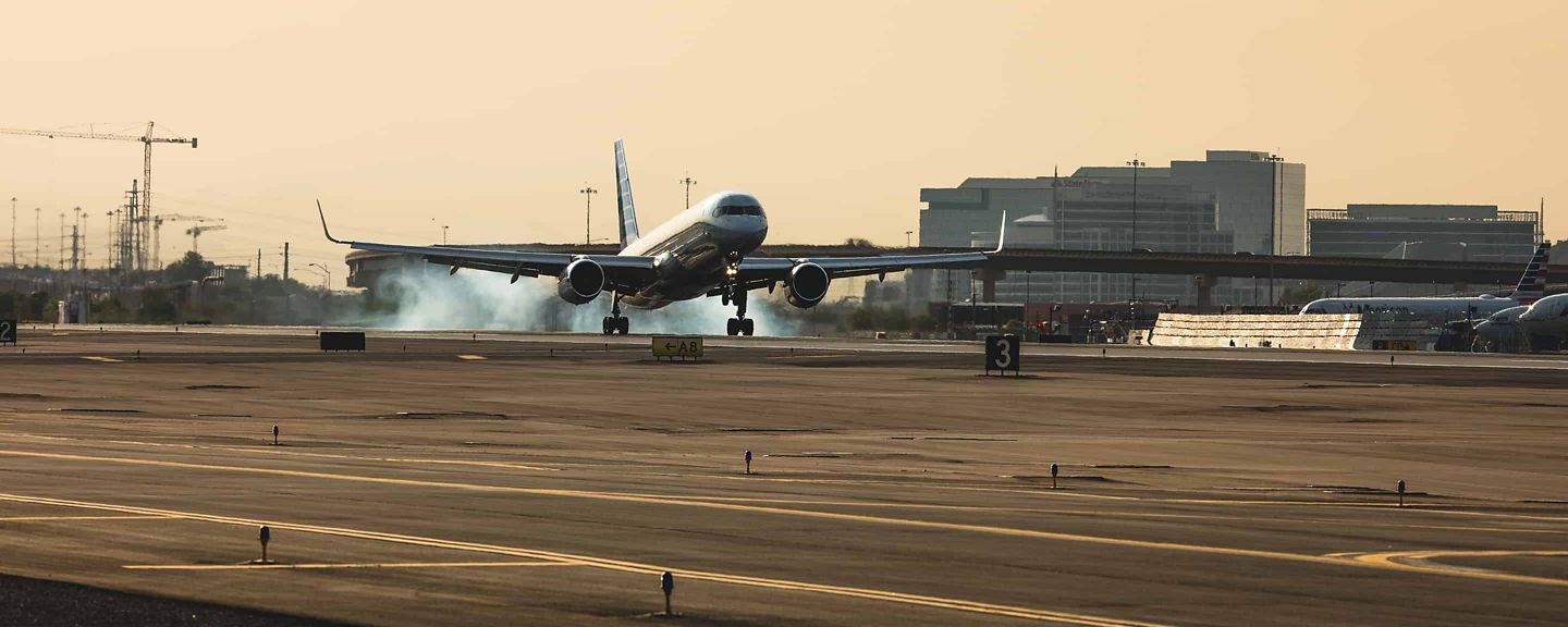 Airliner Taking Off at Sky Harbor
