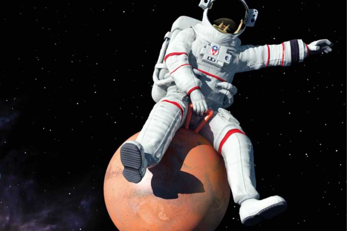 Astronaut on Spacehopper