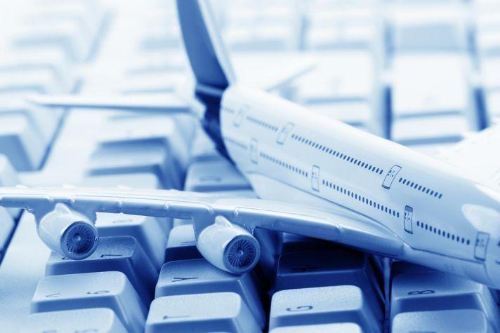Airplane Model on Keyboard