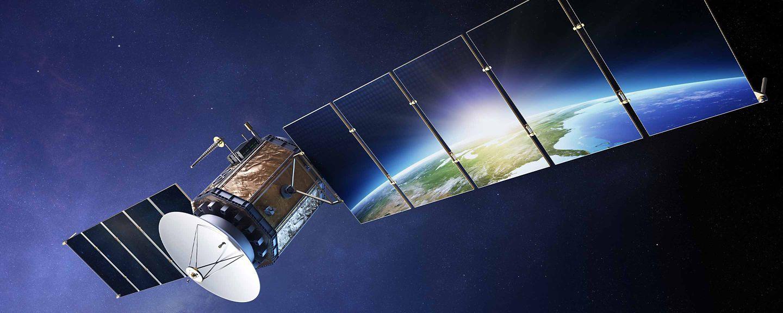 Satellite reflecting Earth