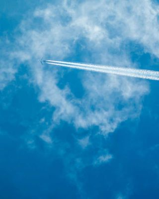 Plane trails sky