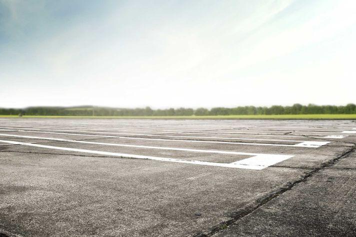 Old worn runway