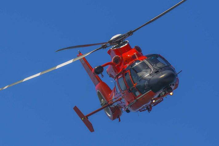 Helicopter in air