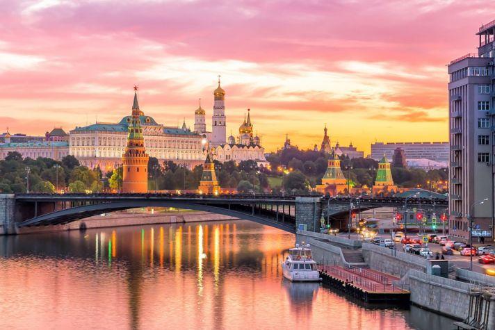 Moscow Kremlin sunset