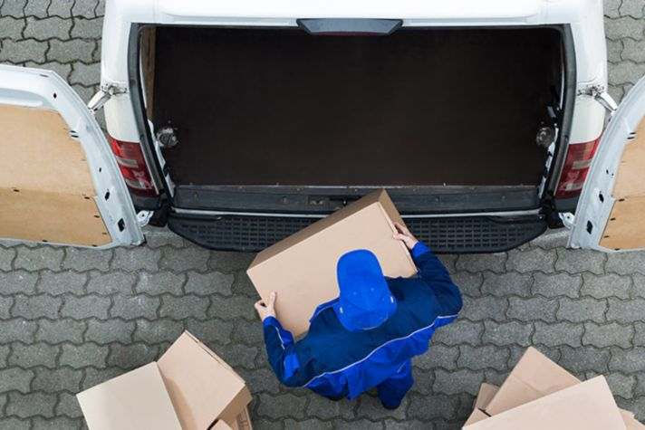 Loading package on a vehicle