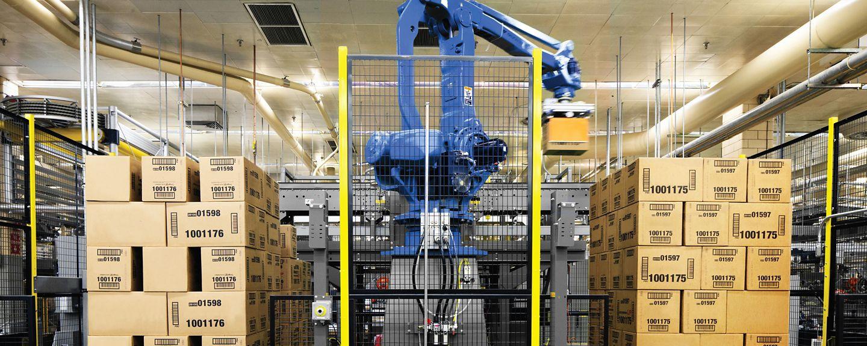 robotic palletizer in action
