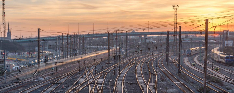 hero complexe railway station at sunrise