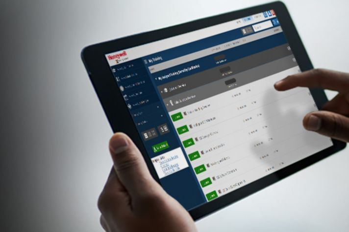 Person completing training on a tablet