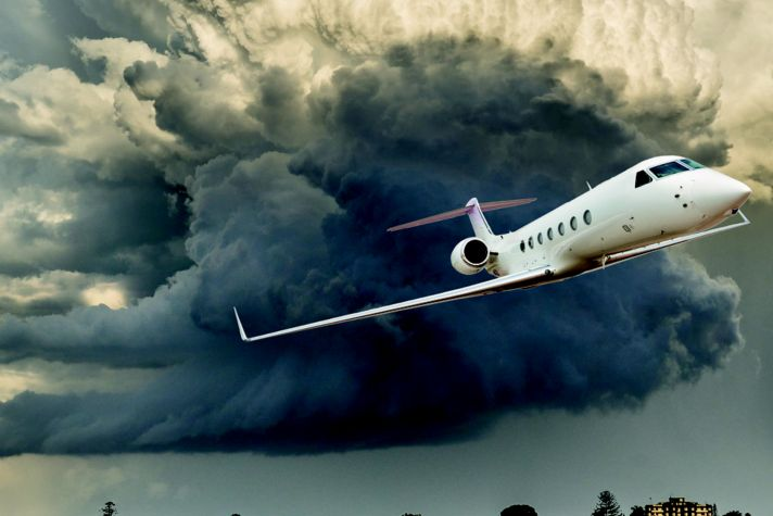 RDR Private Jet Storm